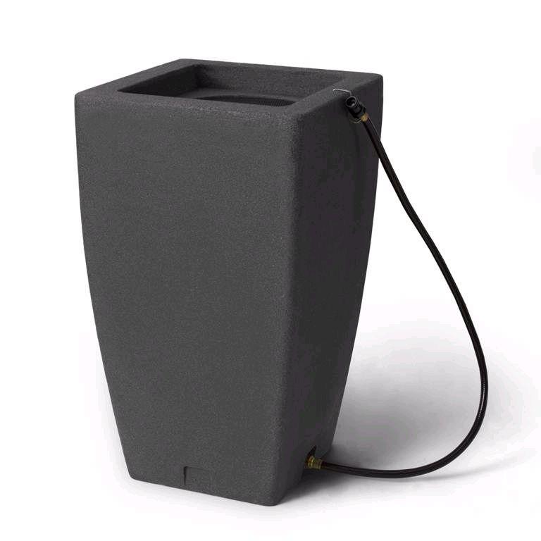 Algreen Products Madison 49 Gal. Decorative Rain Barrel in Dark Granite