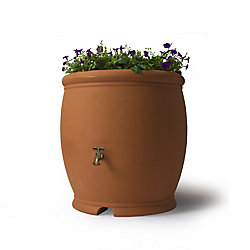 Algreen Products Barcelona 100 Gal. Decorative Rain Barrel in Terra Cotta