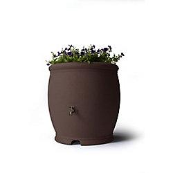 Algreen Products Barcelona 100 Gallon Decorative Rain Barrel - Dark Brown