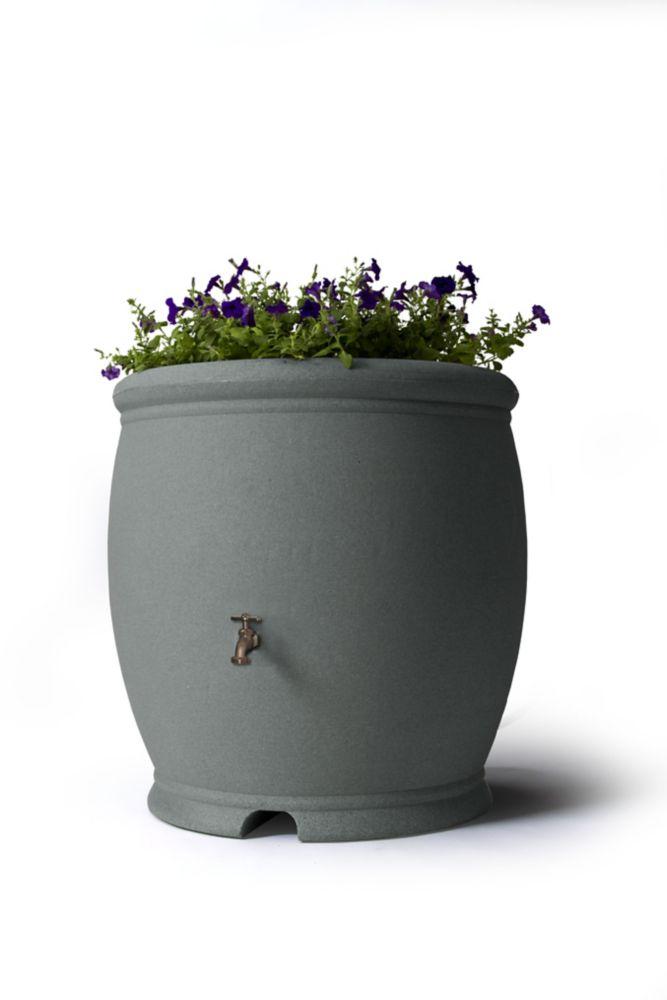 Algreen Products Barcelona 100 Gal. Decorative Rain Barrel in Dark Granite