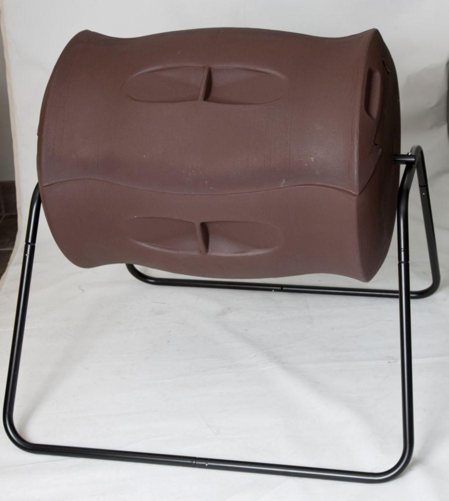 Composteur à tambour Terra 0,21 m3/209l (7,4pi3/55gal) - Brun foncé