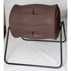 Algreen Products Terra 55 Gal. Tumbling Composter in Dark Brown