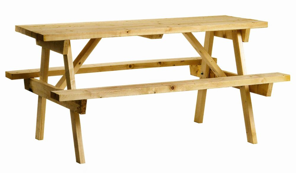 Genial Picnic Table In Solid Pine