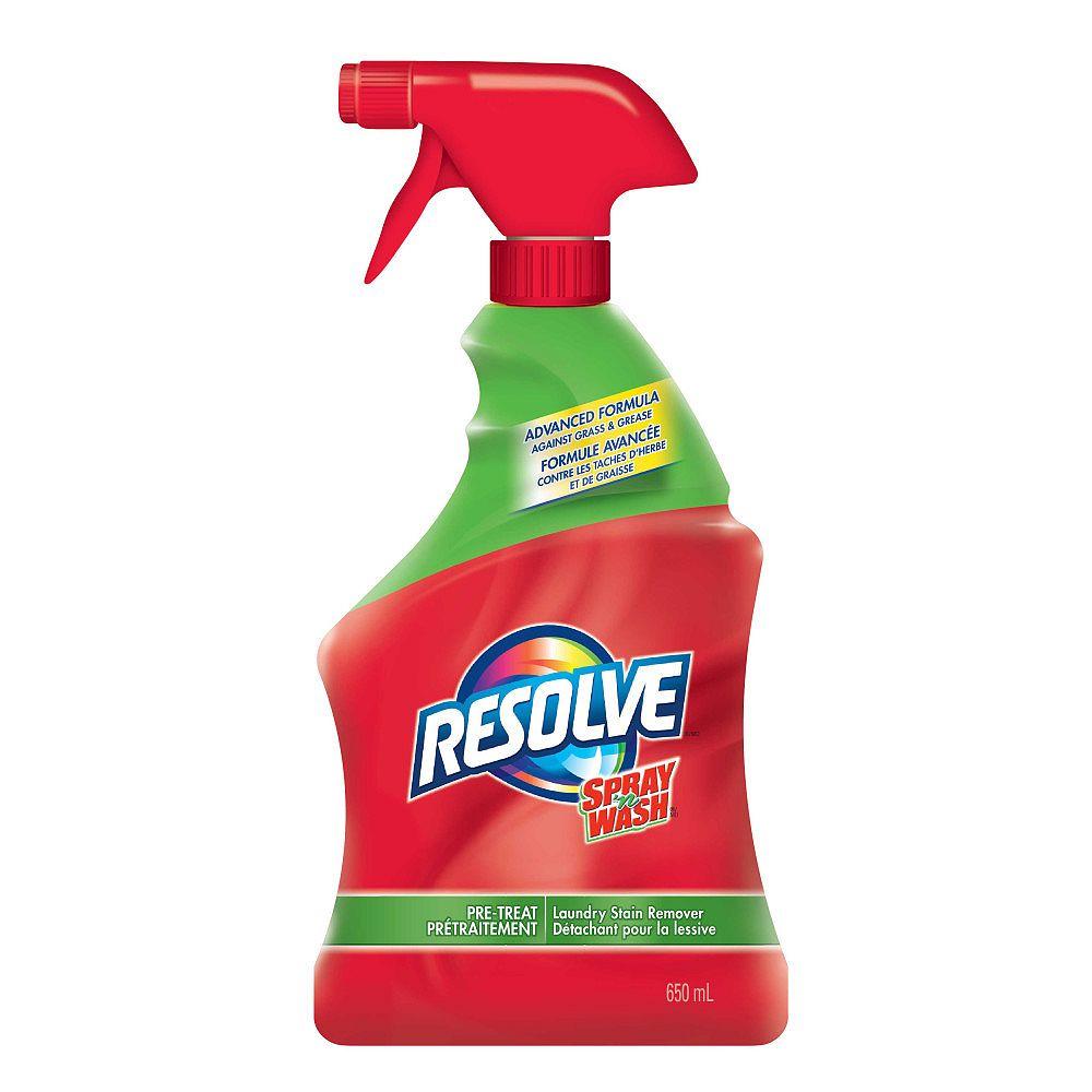 Resolve Détachant pour la lessive en vaporisateur Spray 'n Wash, Prétraitement, 650mL