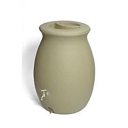 Algreen Products Baril de pluie décoratif Castilla 189 litres (50 gallons) avec jardinière intégrée - Bois de santal