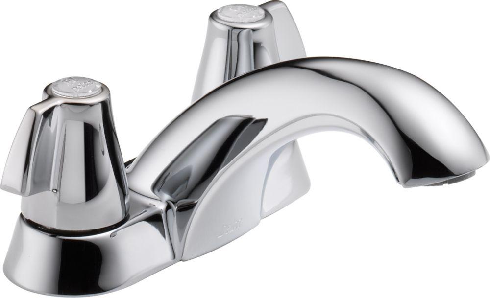 Classique - Robinet à 2manettes et à arche moyenne pour la salle de bains, 10,2cm (4po), sans ...