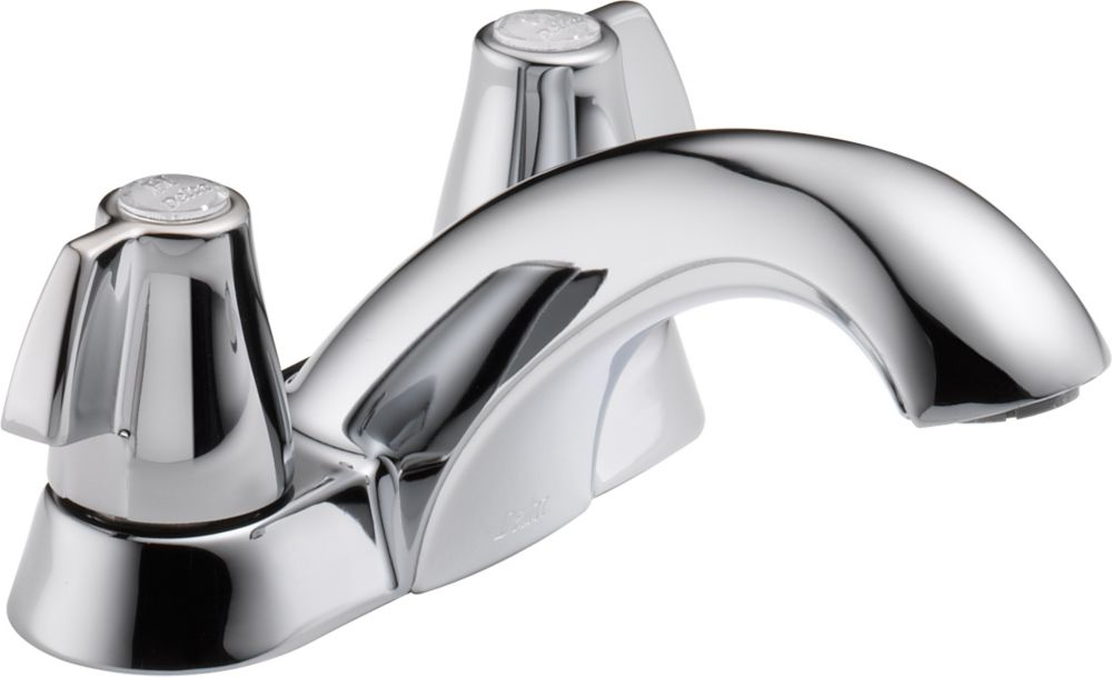 Delta Classic Centerset (4-inch) 2-Handle Mid Arc Bathroom Faucet in Chrome with Lever Handles