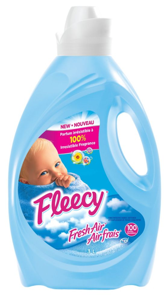 Fleecy Liquid Fabric Softener, Fresh Air 3L