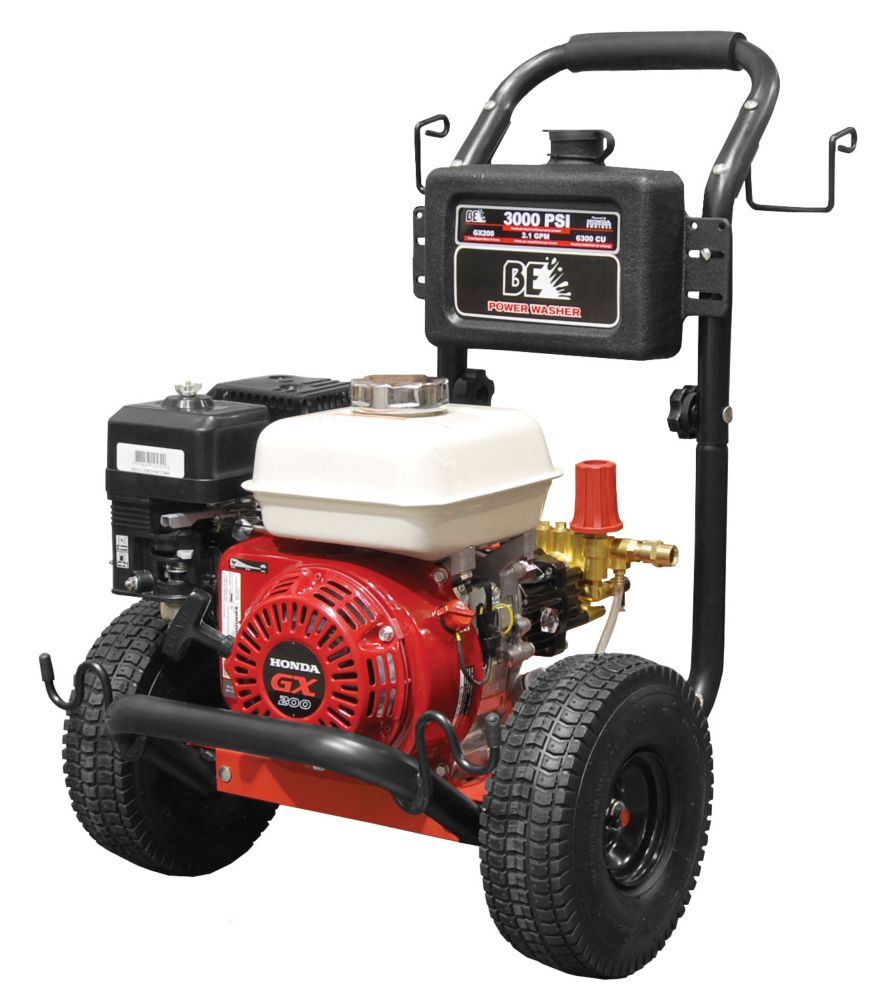 Pressure Washer, 3000 Psi, 6.5 Honda Gx200, Gas, Horizontal, With Low Oil Alert - Reconditioned