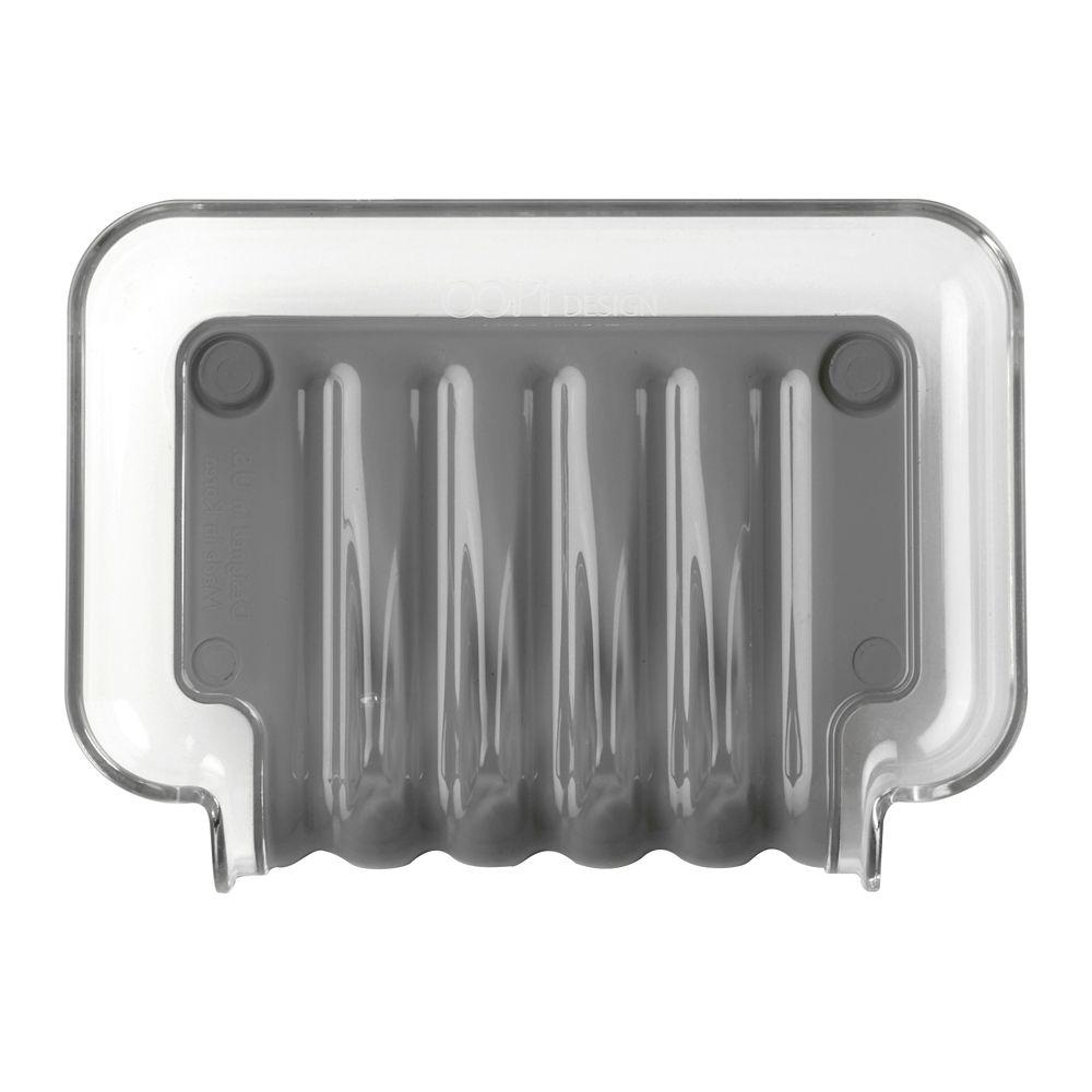 Porte-savon gris Trickle Tray
