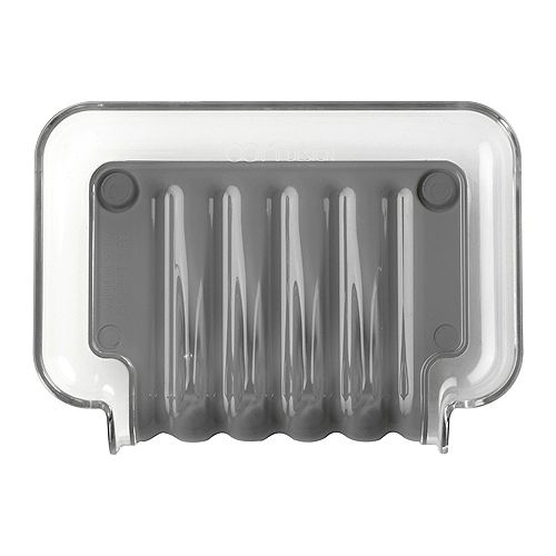 Better Living Porte-savon gris Trickle Tray
