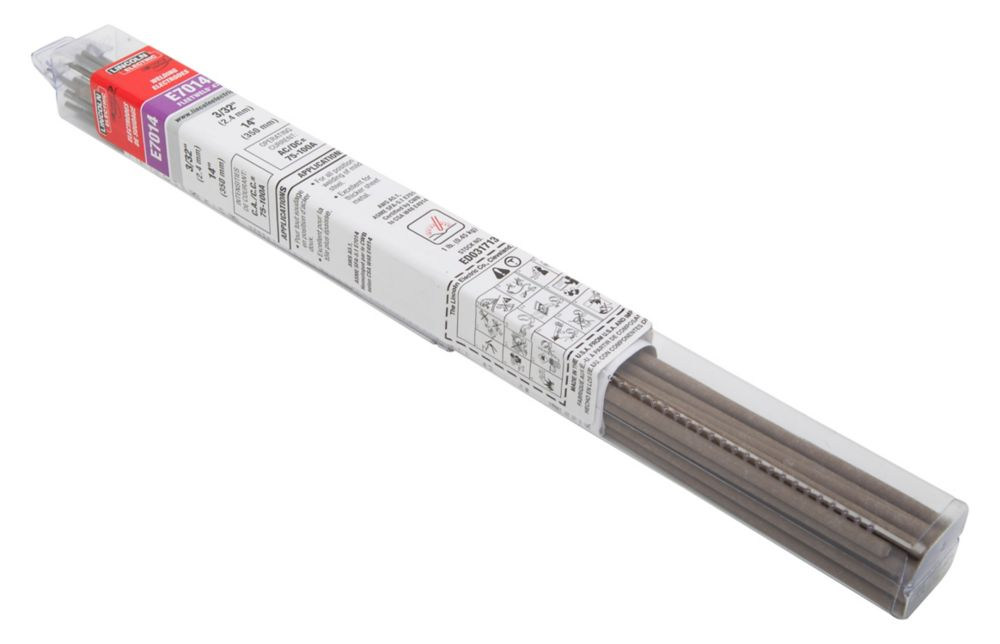 Lincoln Electric -Electrode Fleetweld47 (E7014), 3/32 Inchesx12 Inches, 1Lb Tube