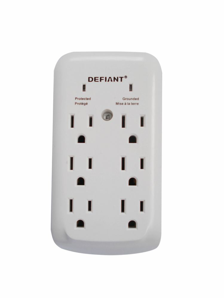 Ean 6955837500046 Defiant Power Strips 6 Outlet Wall