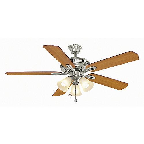 Glendale 52-inch 3-Speed Brushed Nickel Ceiling Fan