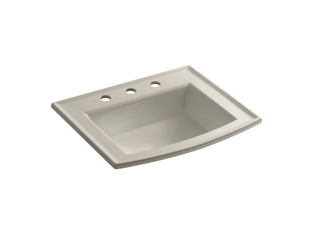 Archer 22 5/8-inch L x 19 7/16-inch H Self-Rimming Bathroom Sink with 8-inch Centres