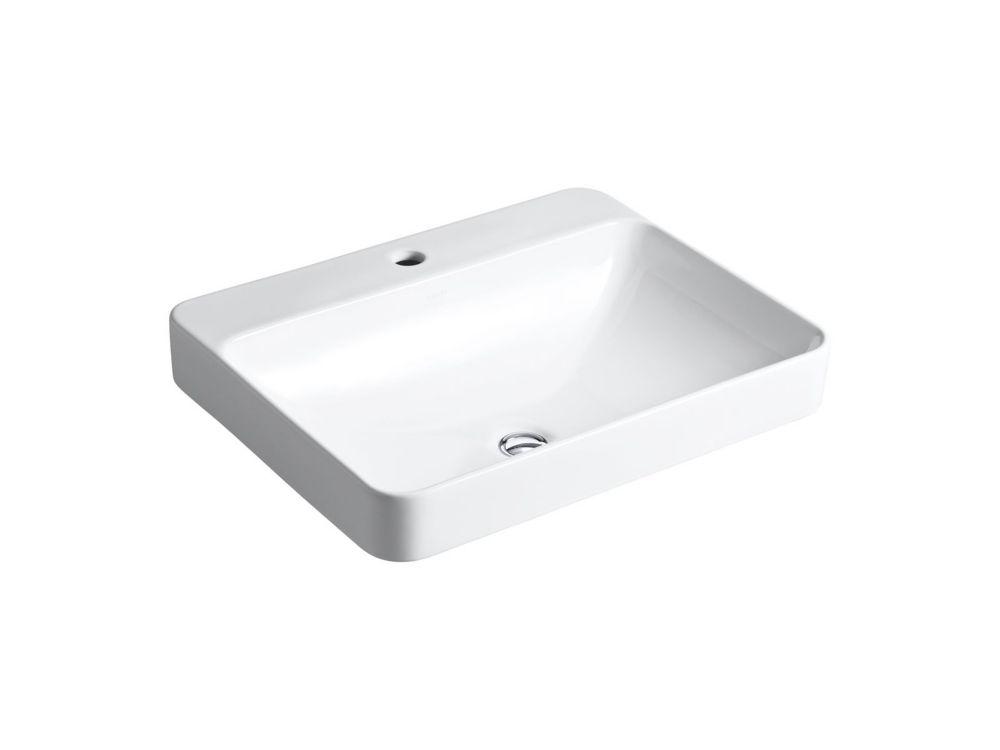 Vox� Rectangular Vessel Sink with Faucet Deck
