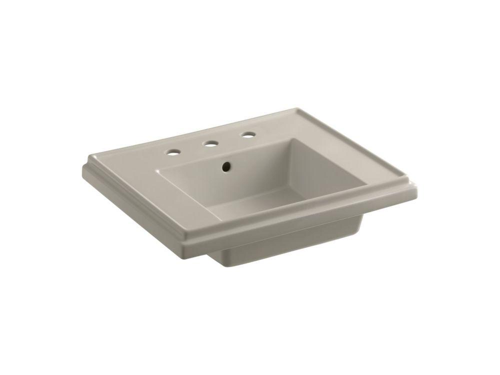 Tresham Bathroom Sink Basin with 8-inch Widespread Faucet Installation