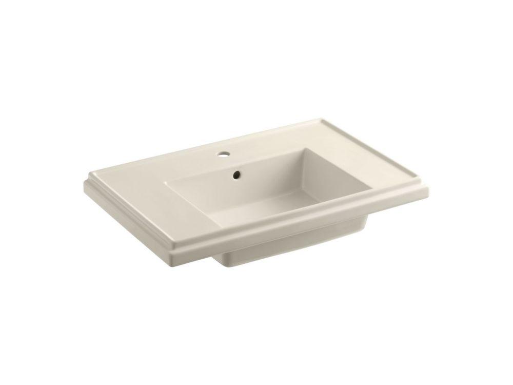 Tresham Bathroom Sink Basin with Single Hole Faucet Installation