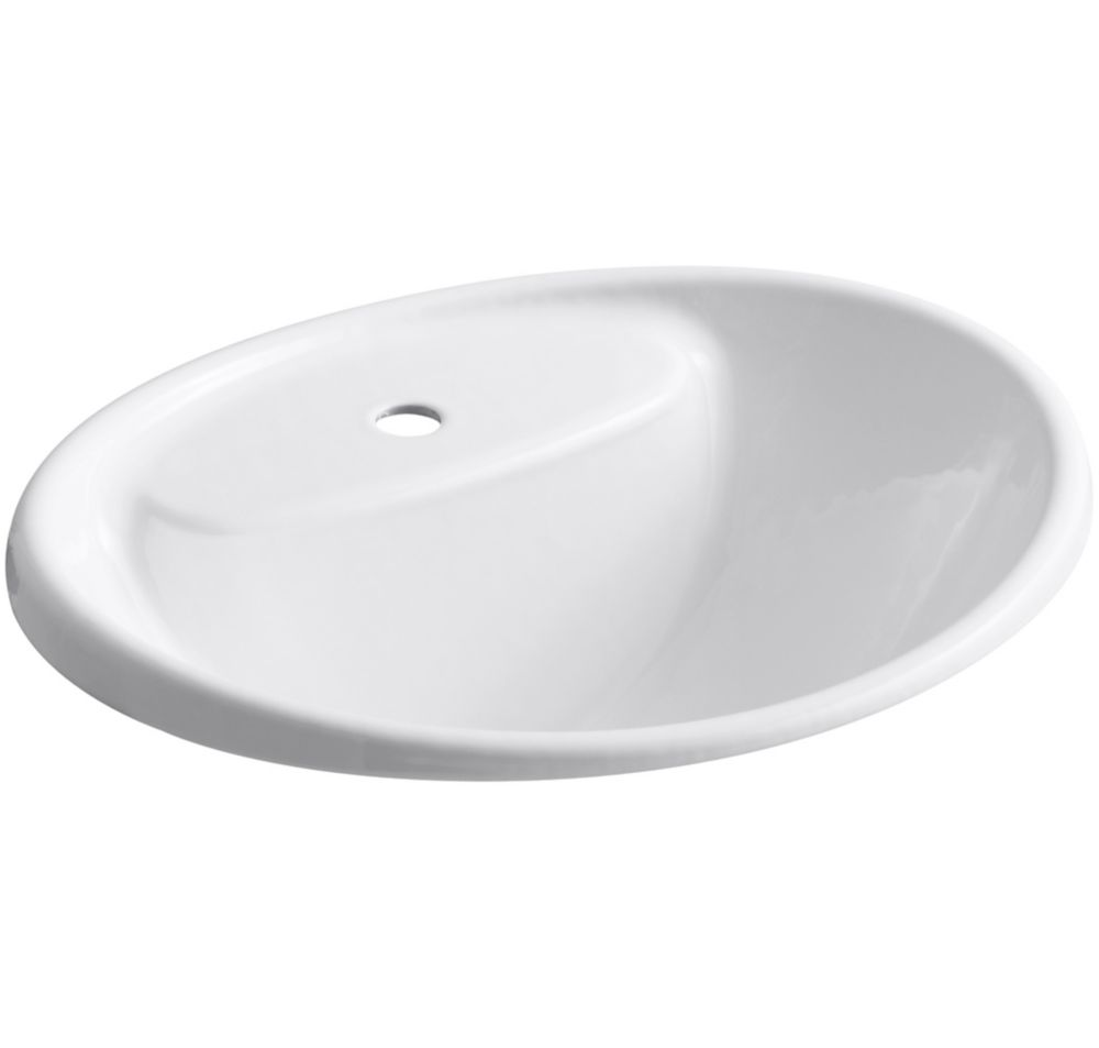 kohler tides 20 inch l x 17 inch w self rimming bathroom