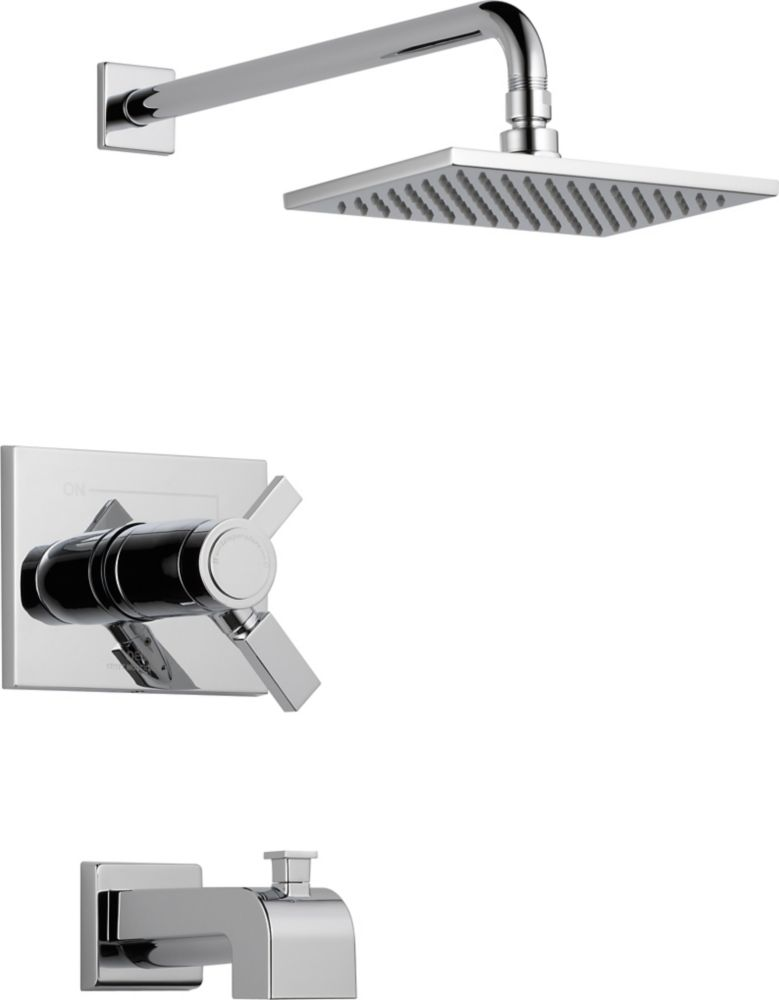 Vero Single-Handle Thermostatic Bath/Shower Faucet in Chrome