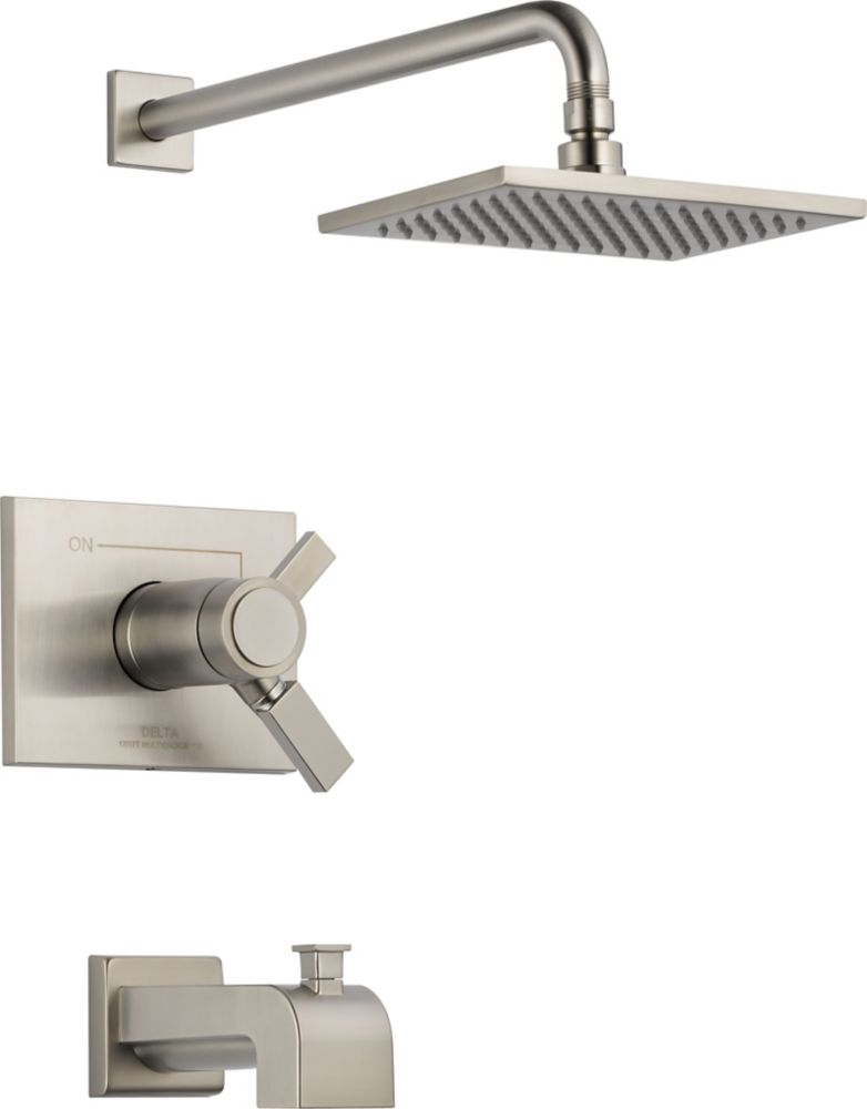 Vero Single-Handle Thermostatic Bath/Shower Faucet in Stainless Steel