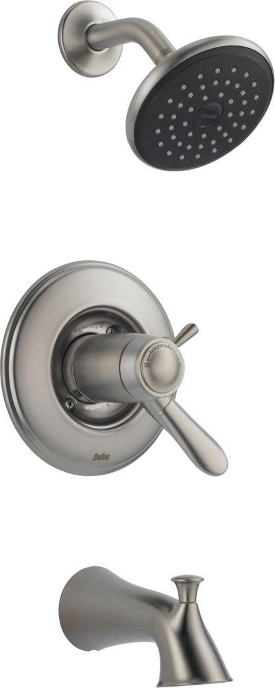 Lahara - Trousse de garniture seulement pour mitigeur thermostatique de douche et baignoire, Inox