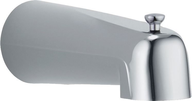 Pull-Up Diverter Tub Spout in Chrome
