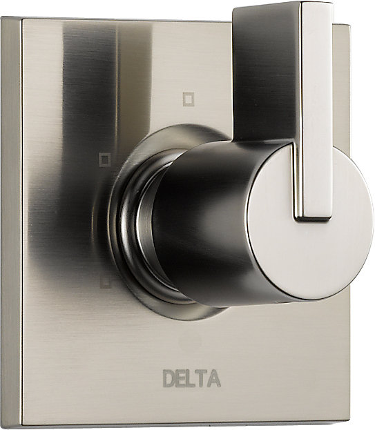 Vero 1-Handle 3-Function Diverter/Volume Control Valve Trim Kit in Stainless-Steel (Valve Not Included)