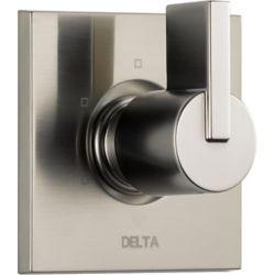Delta Vero 1-Handle 3-Function Diverter/Volume Control Valve Trim Kit in Stainless-Steel (Valve Not Included)