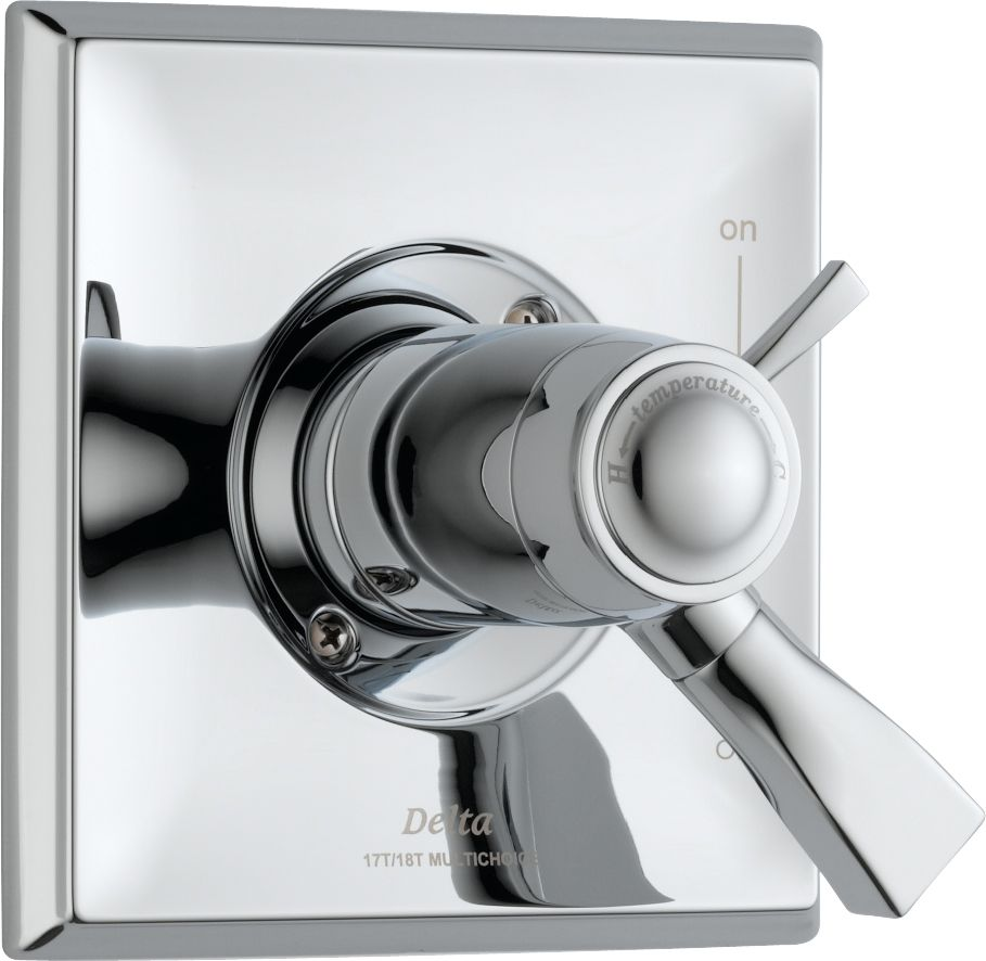 Dryden 1-Handle Thermostatic Diverter Valve Trim Kit in Chrome (Valve Not Included)
