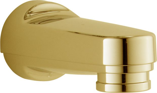 Pull-down Diverter Tub Spout in Polished Brass