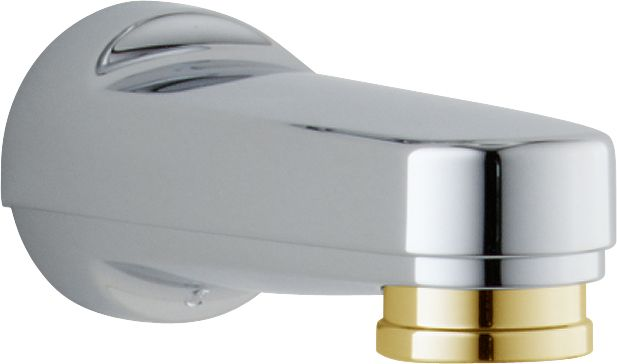 Pull-down Diverter Tub Spout in Chrome & Polished Brass RP17454CB in Canada