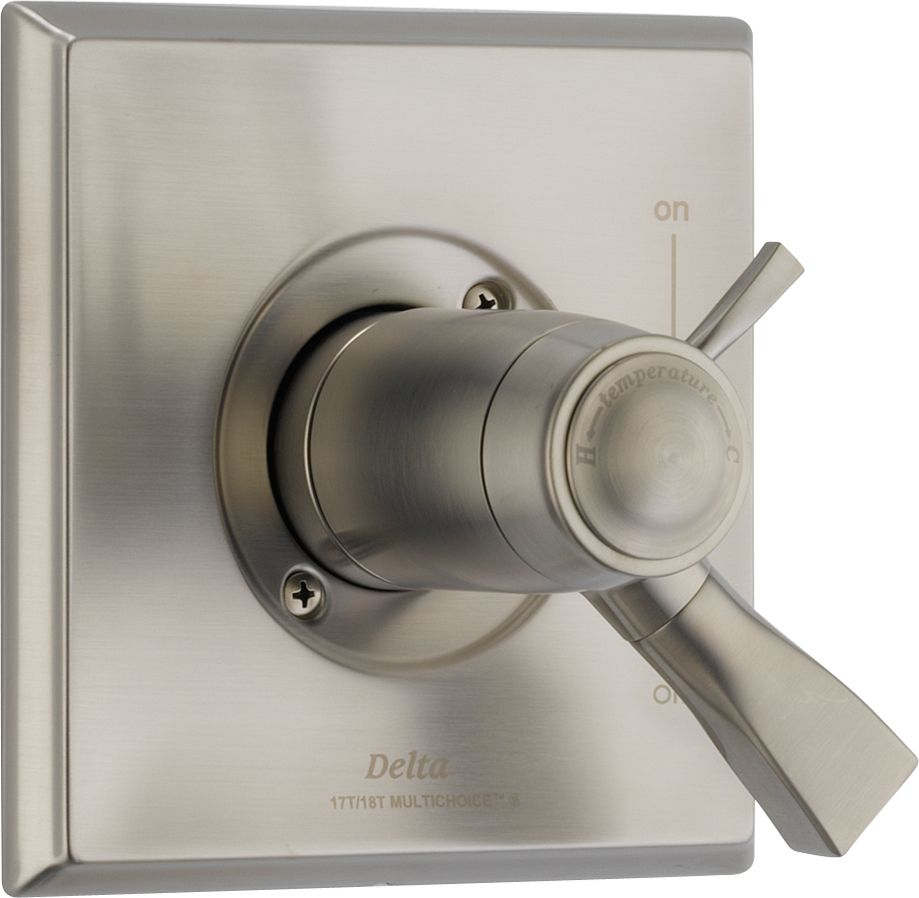 Dryden 1-Handle Thermostatic Diverter Valve Trim Kit in Stainless (Valve Not Included)