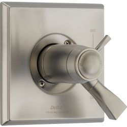 Delta Dryden 1-Handle Thermostatic Diverter Valve Trim Kit in Stainless (Valve Not Included)