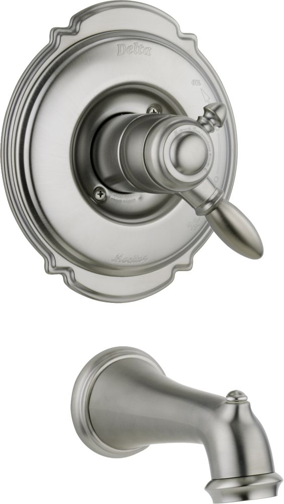 Victorian 1-Handle Tub Filler Faucet in Stainless with Dual-Function Cartridge (Valve not include...