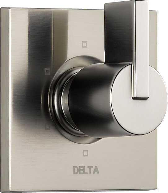Vero 1-Handle 6-Function Diverter/Volume Control Valve Trim Kit Only in Stainless-Steel (Valve Not Included)