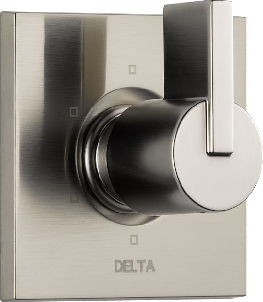 Delta Vero 1-Handle 6-Function Diverter/Volume Control Valve Trim Kit Only in Stainless-Steel (Valve Not Included)