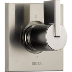Delta Vero - Trousse de garniture seulement pour soupape dinversion et régulateur de débit, 1manette et 6fonctions, Inox