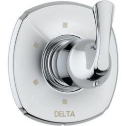 Delta Addison - Trousse de garniture pour soupape dinversion et régulateur de débit, 1manette et 6fonctions, Chrome