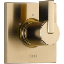 Delta Vero - Trousse de garniture pour soupape dinversion, 1manette et 3réglages, Champagne Bronze