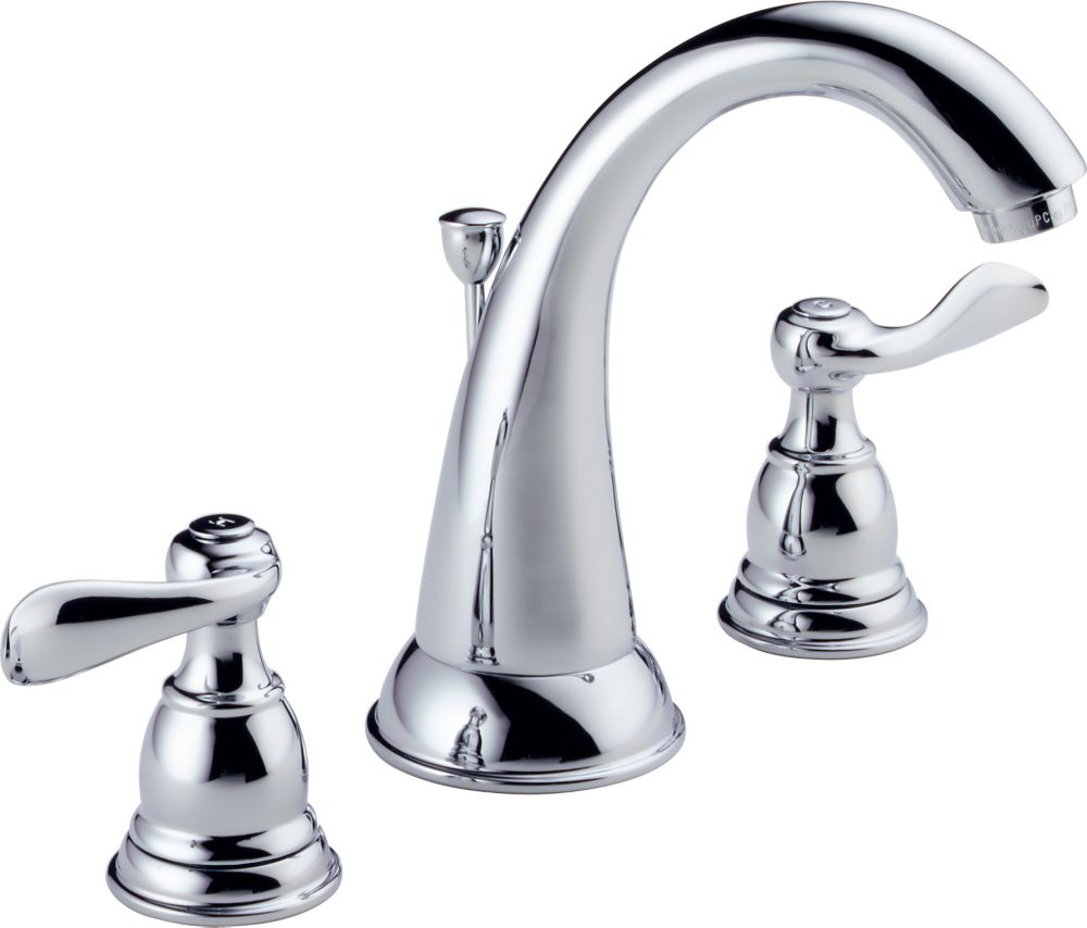 Foundations 8-inch Widespread 2-Handle High-Arc Bathroom Faucet in Chrome Finish