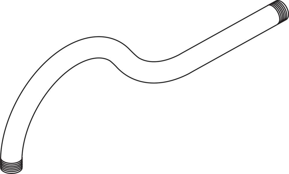 Addison - Bras de douche de 38 cm (15po), Étain vieilli