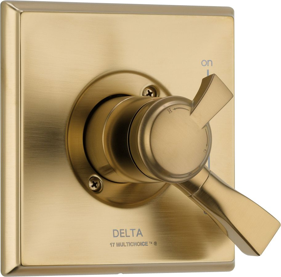 Dryden 1-Handle Valve Trim Kit in Champagne Bronze (Valve Not Included)