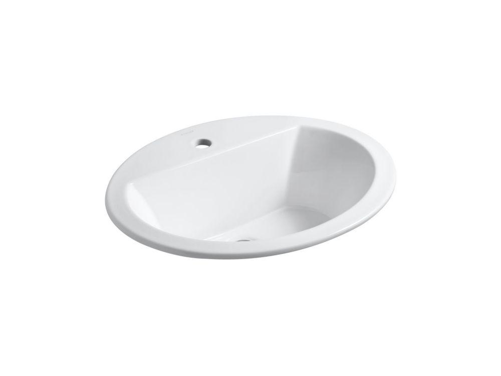 Lavabo ovale à rebord incorporé Bryant(TM) avec orifice unique de robinet
