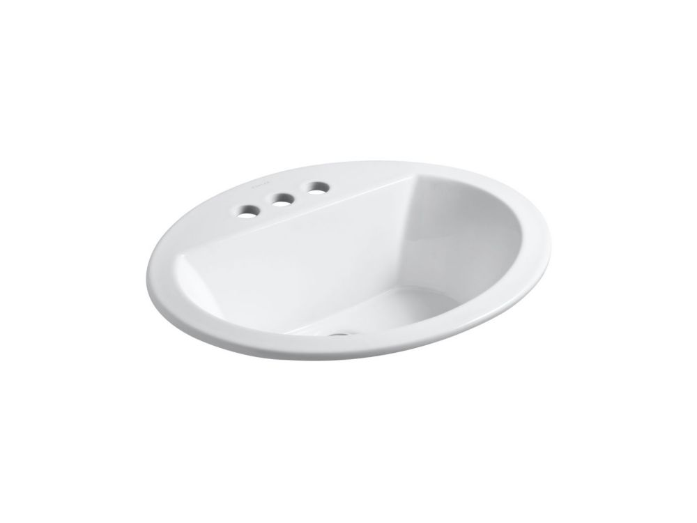 Bryant 20-inch L x 16 1/2-inch W Oval Bathroom Sink with 4-inch Centres
