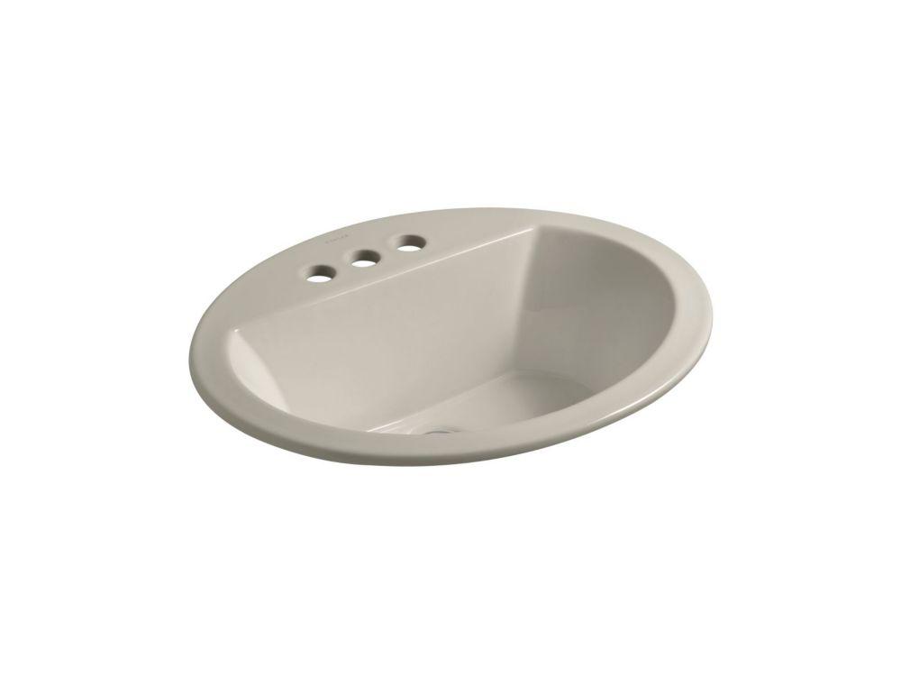 Lavabo ovale à rebord incorporé Bryant(TM) avec centres de 4 po