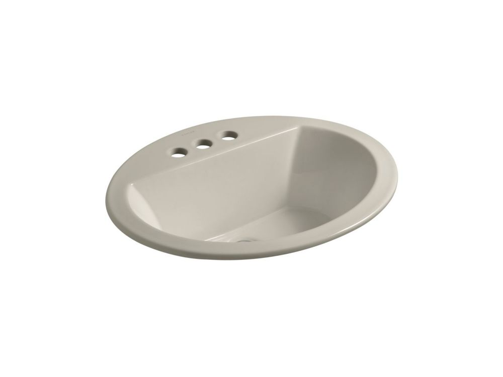 Bryant 20-inch x 16 1/2-inch Oval Bathroom Sink with 4-inch Centres