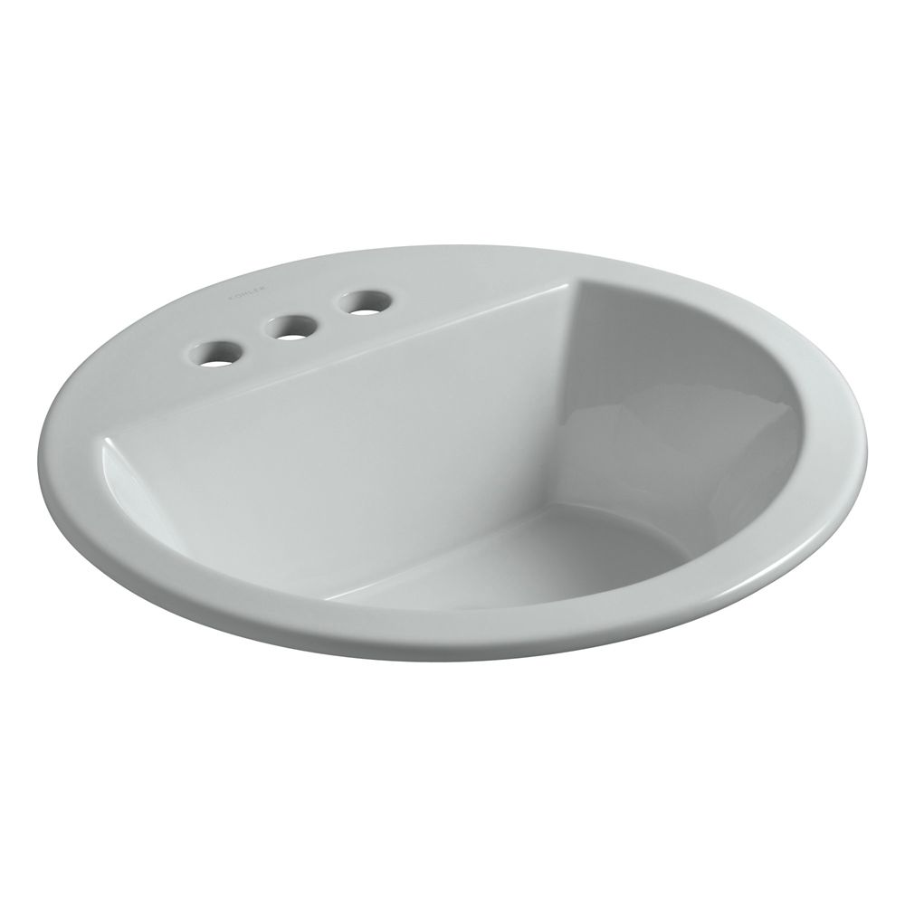 Bryant Round Self-Rimming Bathroom Sink with 4-inch Centres