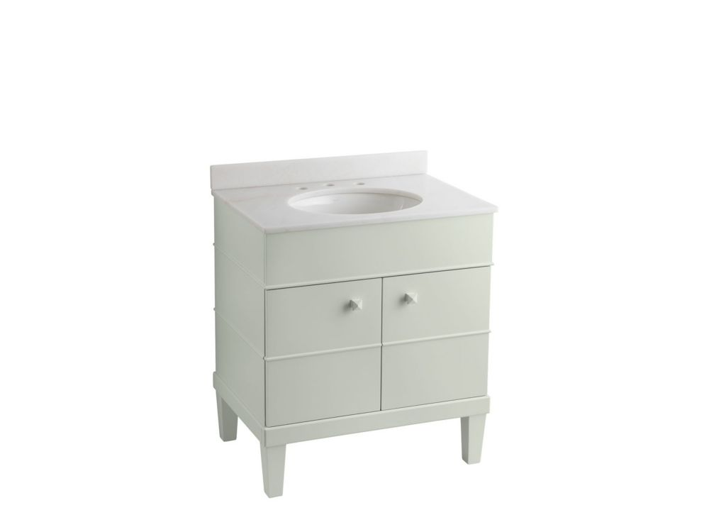 kohler evandale 30 inch w vanity in white the home depot canada. Black Bedroom Furniture Sets. Home Design Ideas
