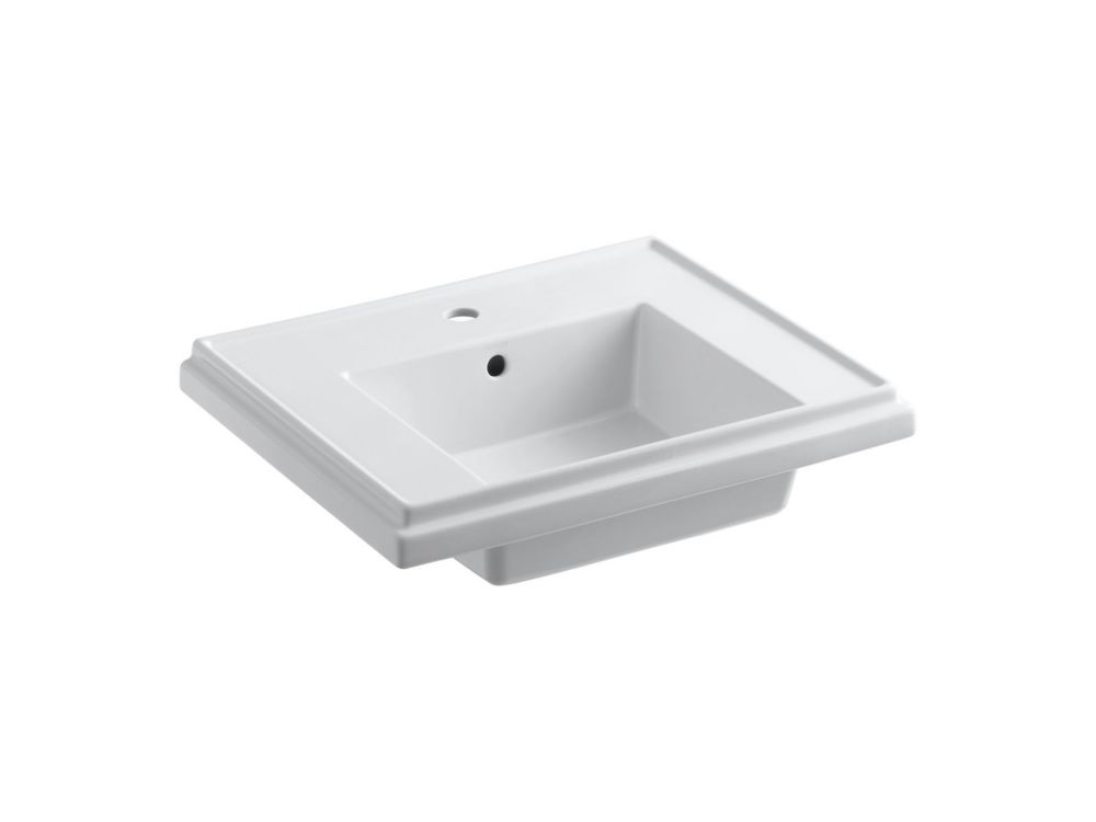 Tresham Bathroom Sink Basin with Single Hole Faucet Installation